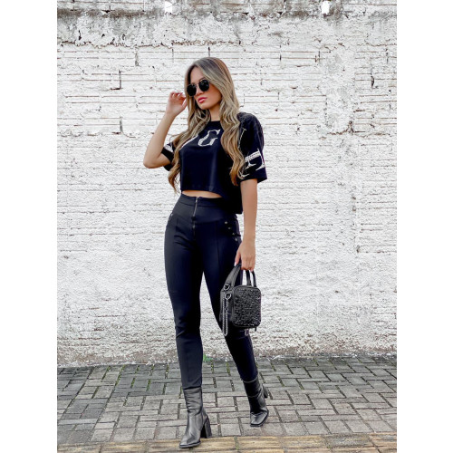CROPPED VOUGUE PRETO