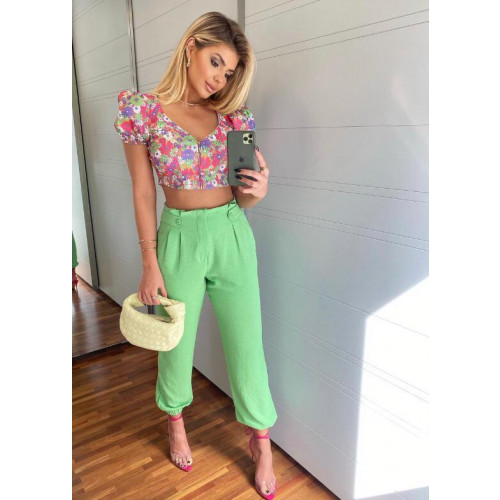 Cropped Madri Floral