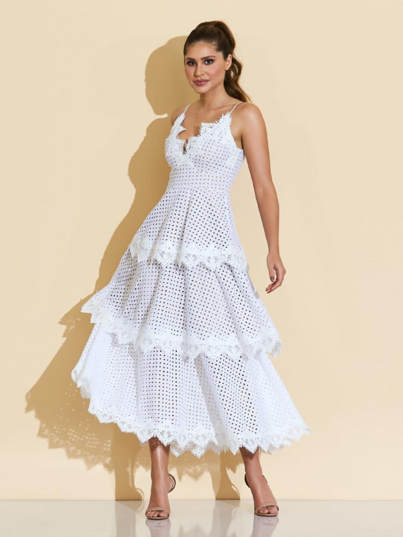 Vestido Midi Off White Fabi