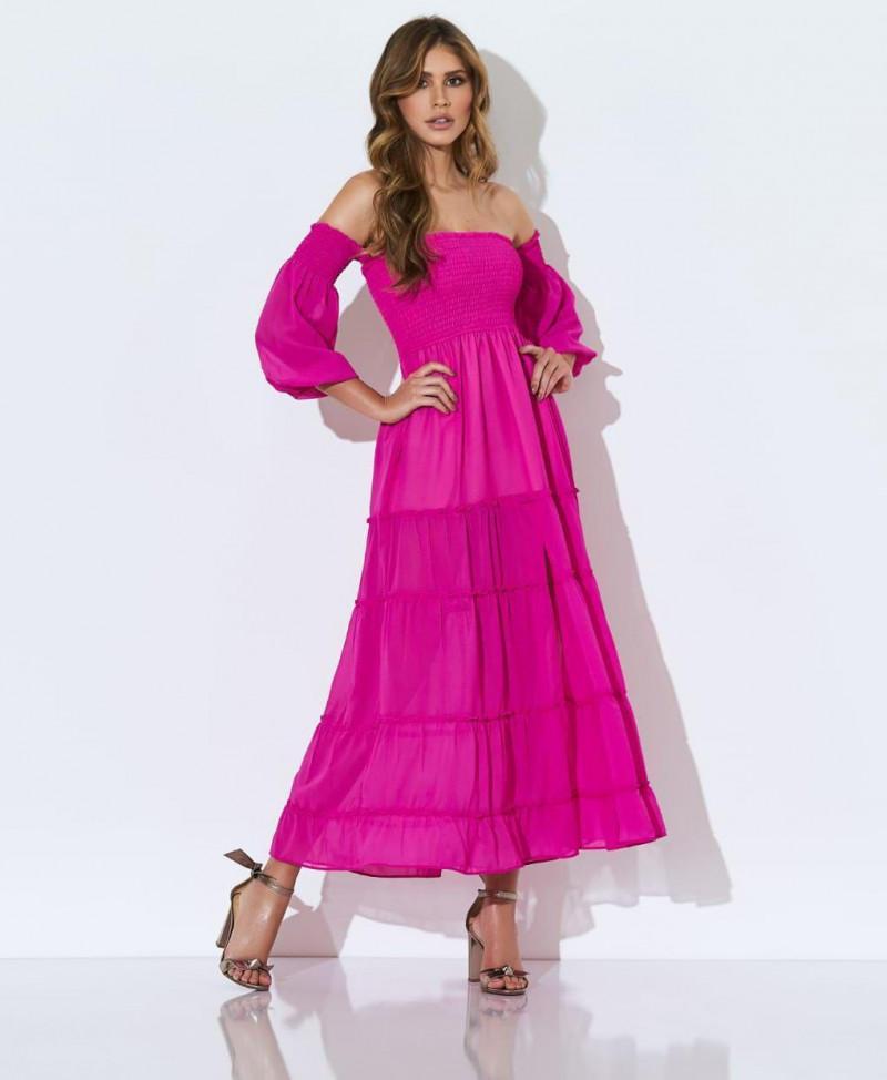 Vestido Midi Pink Kelly