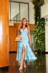 Vestido Midi Azul Marceli